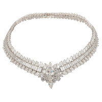 VAN CLEEF & ARPELS Platinum Diamond Necklace | 1stdibs.com
