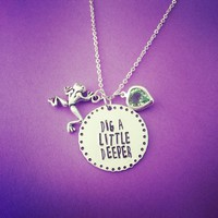 Dig A Little Deeper Disney The Princess And The Frog Necklace Handmade from SHOW PONY