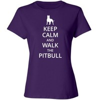 Keep calm and walk the pitbull