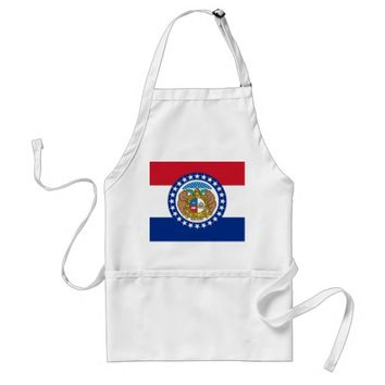 Apron with Flag of Missouri, U.S.A.