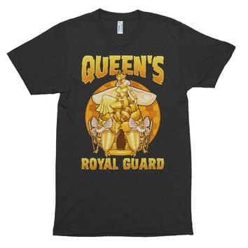 Queen's Royal Guard . Guard Bees with their Queen . Honey Bee .  Short sleeve soft t-shirt