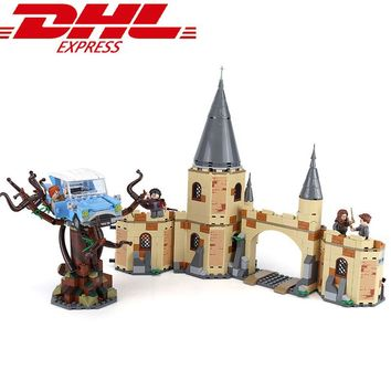 New 843pcs Hogwarts Whomping Willow Compatible with lego Harry Potter 75953 Building Blocks Bricks Toys Kids Gifts Christmas