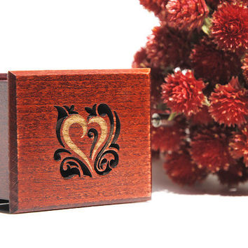 Romantic gift Music Box  Love wooden handmade art Amelie