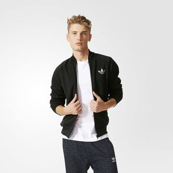 adidas Bonded Tech Superstar Track Jacket - Black | adidas US