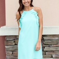 Ice Queen Dress - Aqua