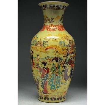 Delicate Vase Kiln Ceramic Hand made Ancient Chinese Beauty