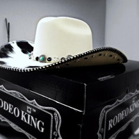 Women's Custom Cowboy Hat with Hair-on Cowhide and Swarovski Crystal
