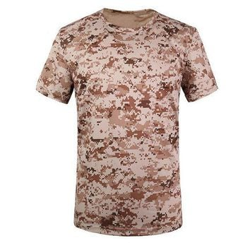 PEAPFS2 New Outdoor Hunting Camouflage Men Breathable Army Tactical Combat T Shirt Military Dry Sport Camo Camp Tees-Tree camouflage