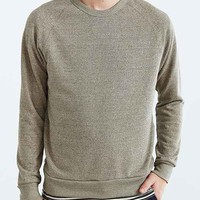 ALTERNATIVE Eco Jaspe Crew Neck Sweatshirt- Taupe