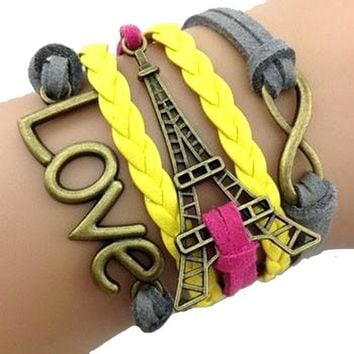 Love Paris Infinity Wrap Bracelet