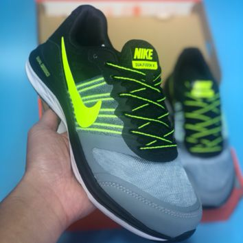 DCCK N484 Nike Dual Fusion X Light Breathable Running Shoes Black Green