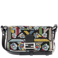 Fendi Women's Micro 'Baguette' Embellished Shoulder Bag Multicolor