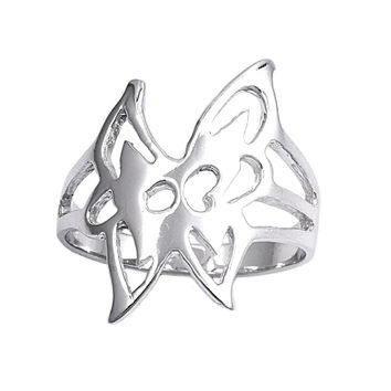 925 Sterling Silver Butterfly Elegance 23MM Fashion Ring