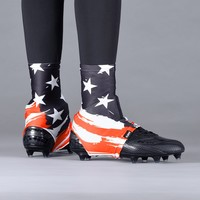 Tryton USA Orange-red Black and White Spats / Cleat Covers