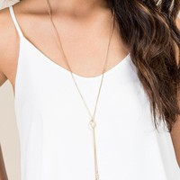 Savannah Delicate Crystal Bars Necklace