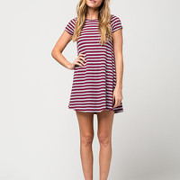 GYPSIES & MOONDUST Ribbed Stripe Dress | Short Dresses