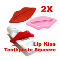 2 Pcs Toothpaste Dispenser Bathroom Lip Kiss Dispenser Toothpaste Squeezer Reusable
