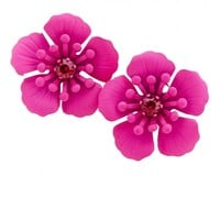 Plus Size Lanai Large Flower Earrings | Fashion To Figure