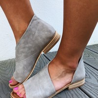 Walk In Her Shoes Flats: Light Grey