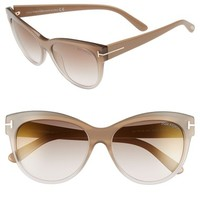 Tom Ford 'Lily' 56mm Cat Eye Sunglasses | Nordstrom
