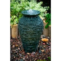 SheilaShrubs.com: Small Stacked Slate Urn Fountain Kit 58064 by Aquascape: Garden Fountains