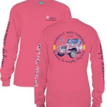 """*Closeout* Simply Southern Long Sleeve Tees - """"SWEET"""" JEEP"""