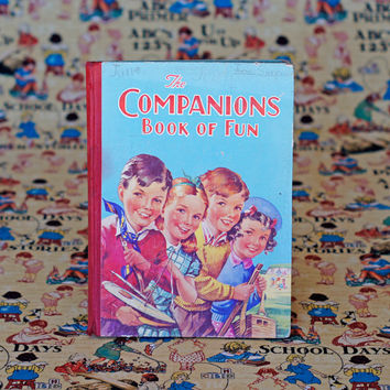 Children's Book 'The Companions Book of Fun' Vintage Picture Book Story Book Children's Series by Birn Brothers, London