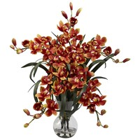 Large Cymbidium w/Vase Arrangement - 2 Colors