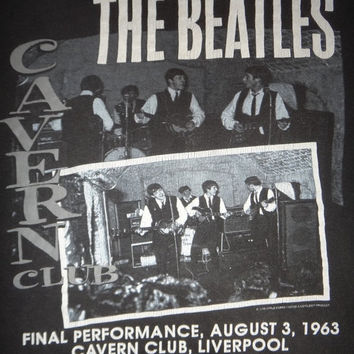 Vintage The Beatles Final Performance Cavern Club Liverpool 1990s T Shirt Rock Concert Tour Lennon Tee
