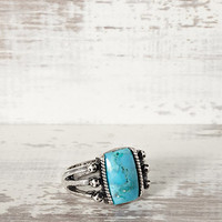 Peyote Bird Turquoise Ring