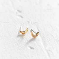 18k Gold-Plated Rhinestone Icon Post Earring | Urban Outfitters