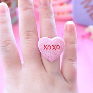 Pastel Conversation Heart Rings Pick One