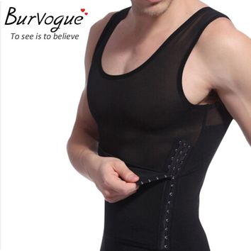 Burvogue Men Slimming Shaper Body Shaper Vest Waist Cincher Tummy Control Slimming Belly Shaper Underwear Slim Girdles Shapewear