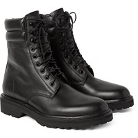 Saint Laurent - Leather Combat Boots | MR PORTER