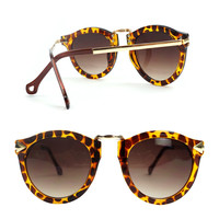 SakuraShop — Leopard Print Retro Summer Beach Sunglasses