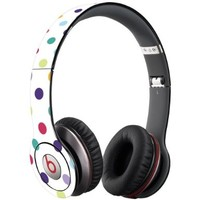 Polka Dot Explosion on White Decal Skin for Beats Solo HD Headphones by Dr. Dre