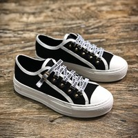 J A-dior 2018 Christian Dior J Adior Antique Gold White Low Sneakers - Best Online Sale