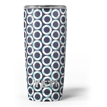 The All Over Teal and White Life Floats Yeti Rambler Skin Kit