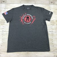 Reebok Spartan Race 2016 Sprint Trifecta Qualifier Finisher Crossfit Shirt Mens Size XXL