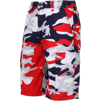 New England Patriots Tailgate Camo Shorts - Navy Blue/Red