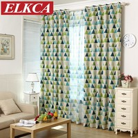 New Geometric Printed Blackout Curtains for Kids Bedroom Modern Curtains for Living Room Window Curtains Blinds Custom Made