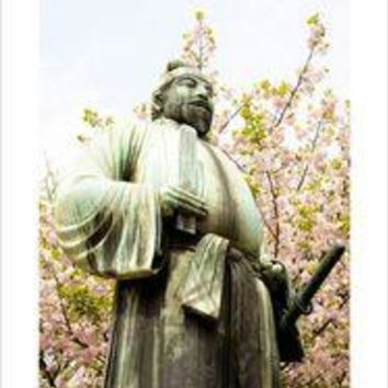 Bronze Statue -Cherry Blossoms of Spring