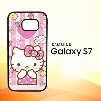Hello Kitty Candy Pink L1944 Samsung Galaxy S7 Case