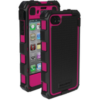Ballistic Iphone 4 And 4s Hard Core Case With Holster (hot Pink And Black)