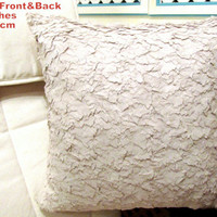Three dimensional feather  pillow – Luxury cover 20x20