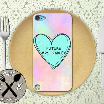 Future Mrs. Oakley Pink Pastel Tumblr Candy Heart Custom Rubber Case iPod 5th Generation and Plastic Case For The iPod 4th Generation