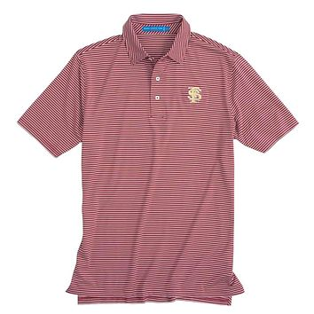 Florida State Seminoles Striped Performance Polo Shirt by Southern Tide