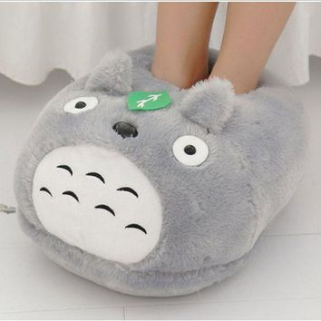 My Neighbor Totoro cosplay Slippers Cartoon Plush Totoro Warm Home Shoes 050802