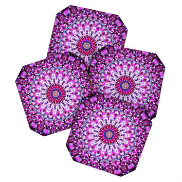 Monika Strigel Pink Arabesque Coaster Set