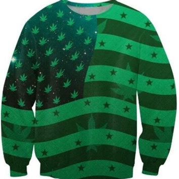 Marijuanamerica Green Sweatshirt